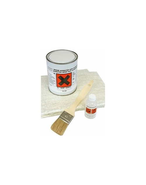 KIT DE REPARATION POLYESTER 1KG