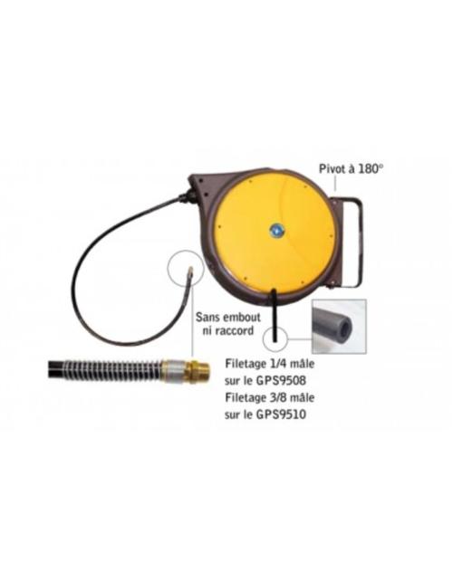 GPS9508 ENROULEUR D8MM FILETAGE 1/4 LONGUEUR 15M+1M